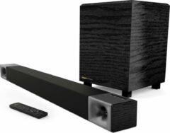 """Zwarte Klipsch CINEMA 400 SOUNDBAR 40"""" 2.1 soundbar with 8"""" wireless subwoofer"""