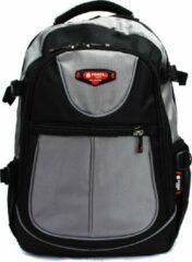 Rugzak Power - met laptop vak- 31x15x46 cm (9602-25) -grijs/zwart