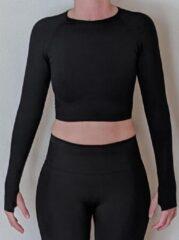 Merkloos / Sans marque Naadloos vestje voor fitness, yoga, gym - Zwart - Maat M