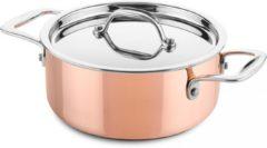 DUCQ lage kookpan koper Ø18cm (geschikt voor inductie)