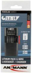 Ansmann Powerline Vario X 1001-0085 Cameralader Geschikt voor batterijtype Li-ion, Li-poly, NiMH