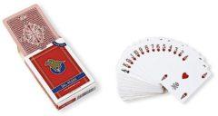 Dal Negro speelkaarten 8,8 x 6,3 cm pvc rood 55-delig