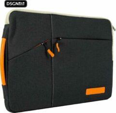Oranje DSGN Pro/Air MacBook Laptop 13 inch Tas/Case/Hoes/Sleeve/ Laptophoes tot 2020 model 13.3 inch - Zwart - Handvat - Extra vakken - Laptophoezen