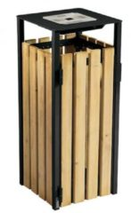 Groene Rossignol Eden prullenbak 110L gemaakt van staal met corrosiewerende behandeling