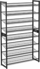 MIRA Home Schoenenrek – Schoenenplanken – Modern – Metaal – Zwart – 30.7x92.5x163.5