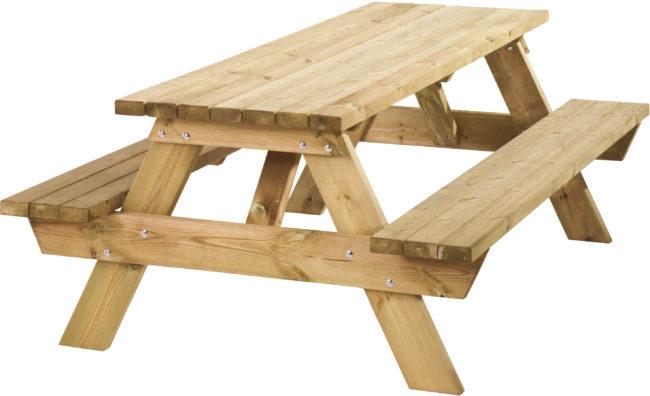 Afbeelding van Bruine Woodvision - Picknicktafel Extra Hoog - Vurenhout