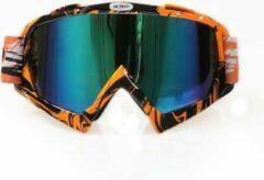 Improducts Skibril stoere luxe lens blauw evo frame oranje / zwart N type 4 - ☀/☁