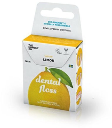 Afbeelding van Humble Brush Dental floss lemon 50 meter 1 Stuks