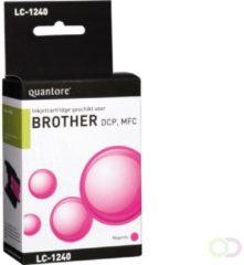Quantore Inktcartridge - geschikt voor Brother LC-1240 - Magenta / Rood