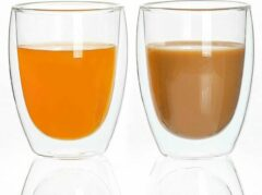 UMIGAL Dubbelwandig Glas Espressokopjes of Theeglas- 350 ml - 2 stuks