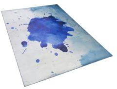 Blauwe Beliani Odalar Vloerkleed Polyester 140 X 200 Cm