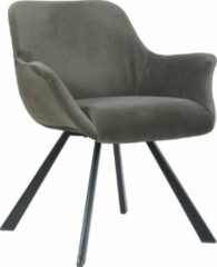 Alora Stoel Alan Donkergrijs - Stof - relaxstoel - fauteuil - eetkamerstoel
