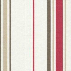 Acrisol Minerva Fresa 1204 gestreept rood, wit, grijs stof per meter buitenstoffen, tuinkussens, palletkussens