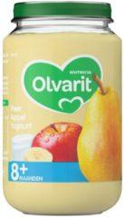 Olvarit Fruithapje 8m Peer Appel Yoghurt 200 gr