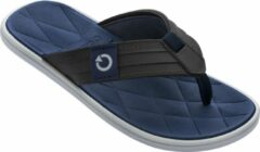 Blauwe Cartago Malta Heren Slippers - Grey/Brown/Blue - Maat 45/46