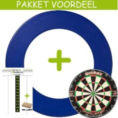 Lena Dartbord VoordeelPakket Deluxe - Pro SFB - Rubberen Surround-Scorebord Pakket Basic- (Blauw)