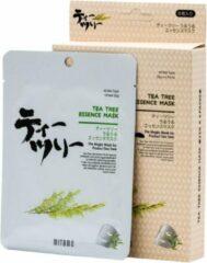 Witte Mitomo Japan Mitomo Tea Tree Oil Gezichtsmasker - Thee Boom Olie Gezichtsverzorging Masker - Face Mask Beauty - Sheet Mask - Skincare Rituals - Valentijn Cadeautje Vrouw