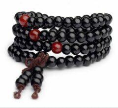 Wellness-House   Meditatie Armband-Ketting Zwart 6mm   Meditatie   Yoga   Meditatie Ketting   Meditatie Armband