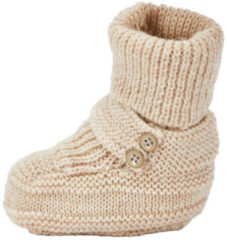 NAME IT Baby Knitted Wool Slippers Unisex Beige