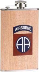 Fostex Zakfles/heupflacon houtlook 150ml - 82nd Airborne