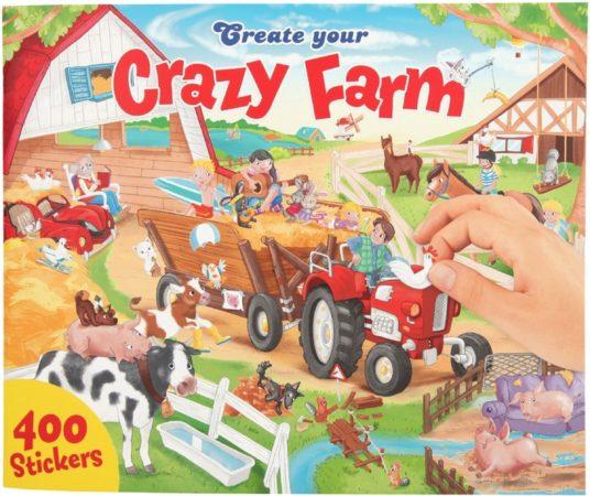 Afbeelding van Create Your Kleurboek Crazy Farm Junior 30 Cm 401-delig