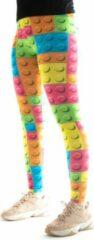 Legging van Festivalleggings - Let's Go Lego - Maat M - Comfortabel - Ademend - Zachte Stof