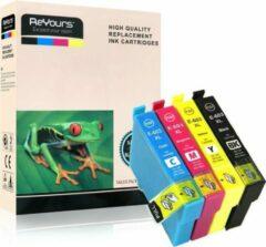 ReYours® inktcartridges voor Epson 603 XL, multipack van 4 kleuren voor Epson Expression Home XP-2105 XP-3100 XP-3105 XP-4100 XP-4105 Workforce WF-2830DWF WF-2835DWF WF-2850DWF