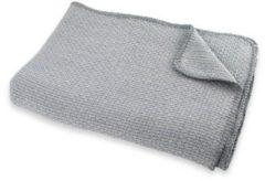 Grijze Briljant Baby wiegdeken pique zomer 75x100 cm mid grey