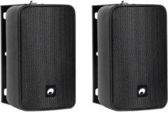 Omnitronic ODP-204T 4 inch 100 V installatiespeaker set, zwart