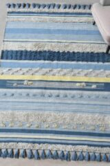 The Rug Republic Handgemaakt Blauw/Multi CANTIC Tapijt