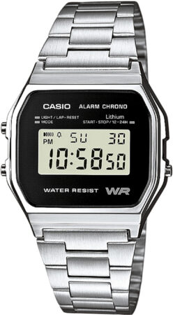 Afbeelding van Zilveren Casio Collection A158WEA-1EF - Horloge - Staal - Zilverkleurig - Ø 33.2 mm