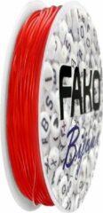 Fako Bijoux® - Elastisch Nylon Draad - Sieraden Maken - 0.8mm - 8 Meter - Rood