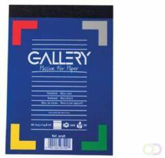Witte Gallery notitieblok formaat 105 x 148 cm (A6) gelijnd blok van 100 vel