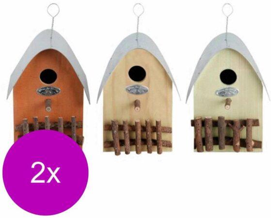 Afbeelding van Best For Birds Nestkast Huisje - Broeden - 2 x 0.6 g Assorti stuks