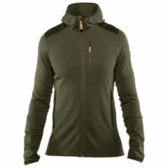 Groene Fjällräven Fjallraven Keb Fleece Outdoorvest Heren - Laurel Green-Deep Forest - Maat M