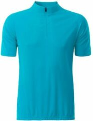 James & Nicholson Fusible Systems - Heren James and Nicholson Fietsshirt (Turquoise)