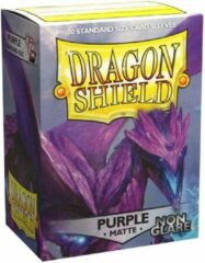 Trading Card Game TCG Sleeves - Dragon Shield - Purple (Non Glare) Standard Size