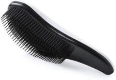 Merkloos / Sans marque Haarborstel anti-klit zwart/wit voor dames - Haren kammen/borstelen - Haar borstels anti-klit