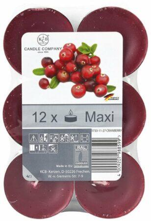 Afbeelding van Xenos Geurtheelichten - cranberry - 12 stuks
