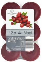 Xenos Geurtheelichten - cranberry - 12 stuks
