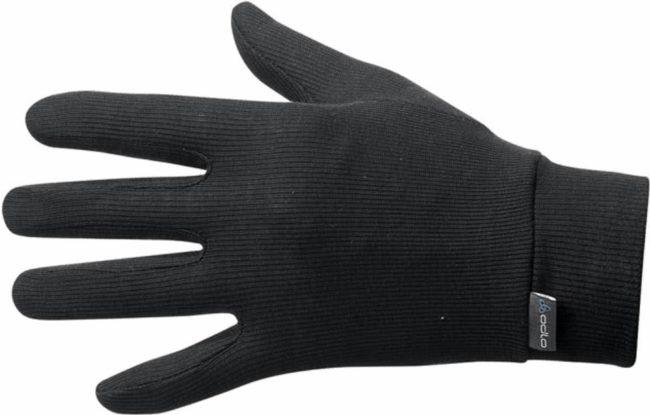 Afbeelding van Zwarte Odlo Gloves Originals Warm Unisex Sporthandschoenen - Black - Maat M