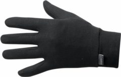 Zwarte Odlo Gloves Originals Warm Unisex Sporthandschoenen - Black - Maat M