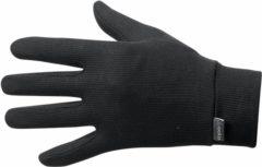 Zwarte Odlo Gloves Originals Warm Unisex Sporthandschoenen - Black - Maat M