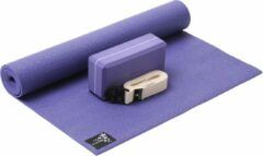 Paarse Yoga-Set Kick-It (Yoga mat + yoga blok + yoga belt) violet Fitnessmat YOGISTAR