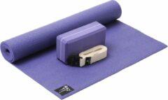 Paarse Yoga-Set Kick-It (Yoga mat + yoga blok + yoga belt) violet Fitnessmat YOGISTAR