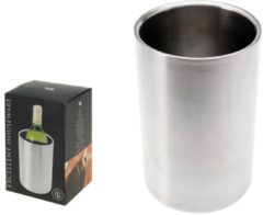 Roestvrijstalen Excellent Houseware Wijnkoeler RVS 20cm hoog x 12cm diameter