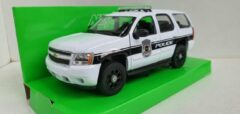 Witte Chevrolet Tahoe 2008 White, Police 1:24 Welly Nex