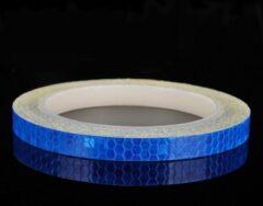 Favorite Things Rol reflecterende blauwe tape 8 meter x 1 cm - Voor helm, motor, fiets etc.
