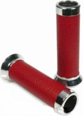 Vespa Aluminiumhandgriffe mit Lederbesatz rot für Roller Vespa LX/ET