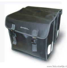 Zwarte Basil Mara XL dubbele fietstassen (35 liter) - Fietstassen